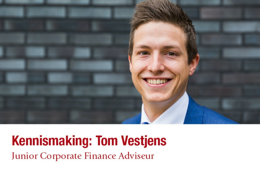 Tom Vestjens, de nieuwe Junior Corporate Finance Adviseur bij Adagium