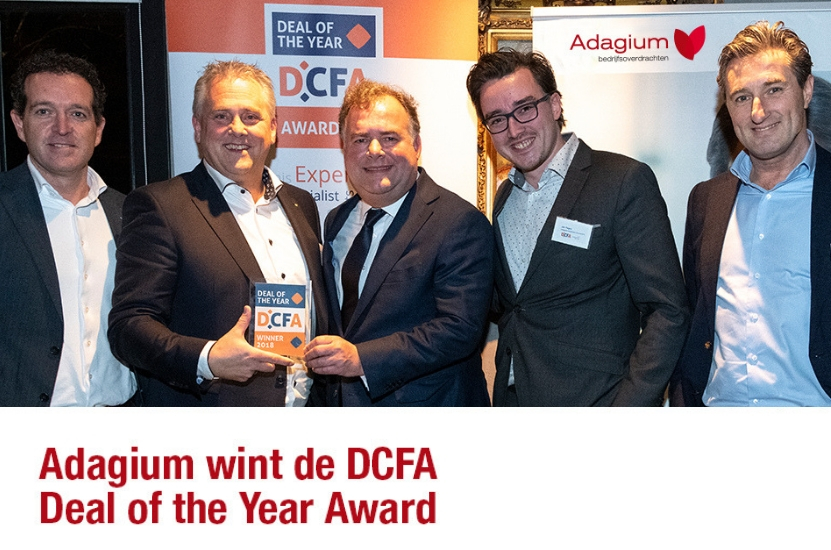 Adagium wint de DCFA Deal of the Year Award