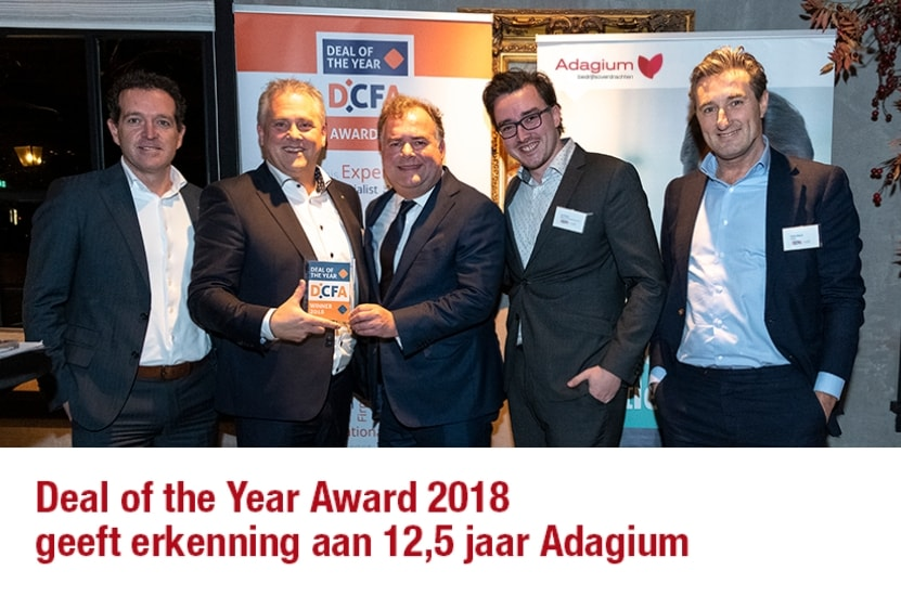 Deal of the Year Award 2018 geeft erkenning aan 12,5 jaar Adagium