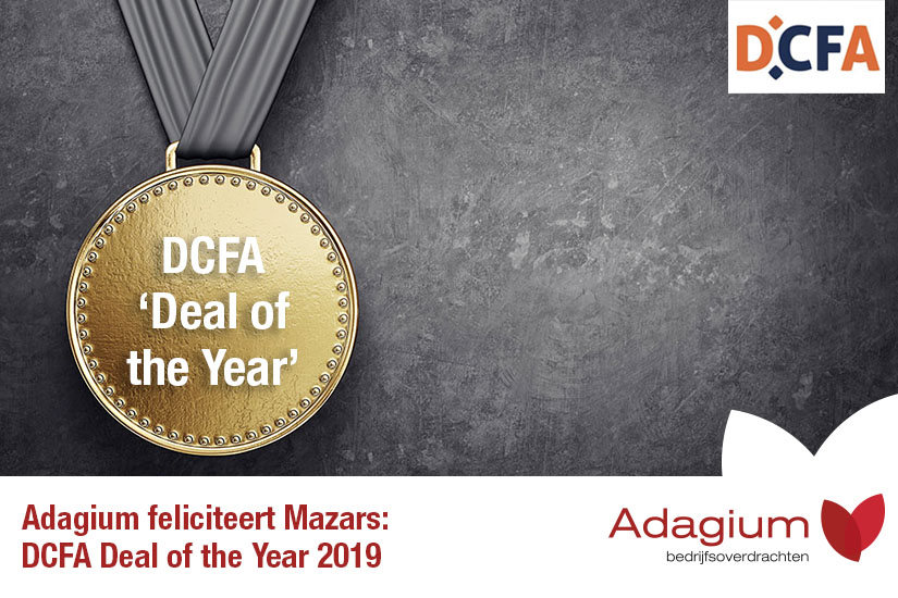 Adagium feliciteert Mazars met de DCFA Deal of the Year Award 2019